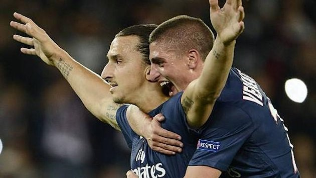 Zlatan Ibrahimovic Marco Verratti (Paris Saint Germain)