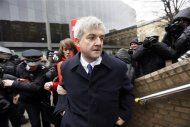 Chris Huhne, Britain's former energy secretary, arrives for sentencing at Southwark Crown Court in London March 11, 2013. REUTERS/Stefan Wermuth