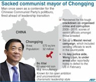 &lt;p&gt;Fact file on Bo Xilai, China&#39;s controversial mayor of Chongqing who was sacked from his post. Bo, the former leader of the southwestern Chinese megacity of Chongqing, is being probed for corruption while Gu has been detained for suspected involvement in the murder of British businessman Neil Heywood last year.&lt;/p&gt;