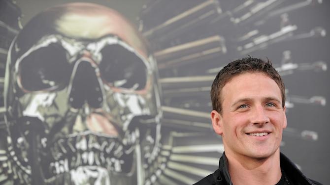 """Ryan Lochte attends the premiere for """"The Expendables 2"""" at Grauman's Chinese Theatre on Wednesday, Aug. 15, 2012 in Los Angeles. (Photo by Jordan Strauss/Invision/AP)"""