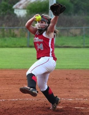 Good Hope pitcher Cara Goodwin has 9 no hitters in 2013 &#x2014; Softball Showcase