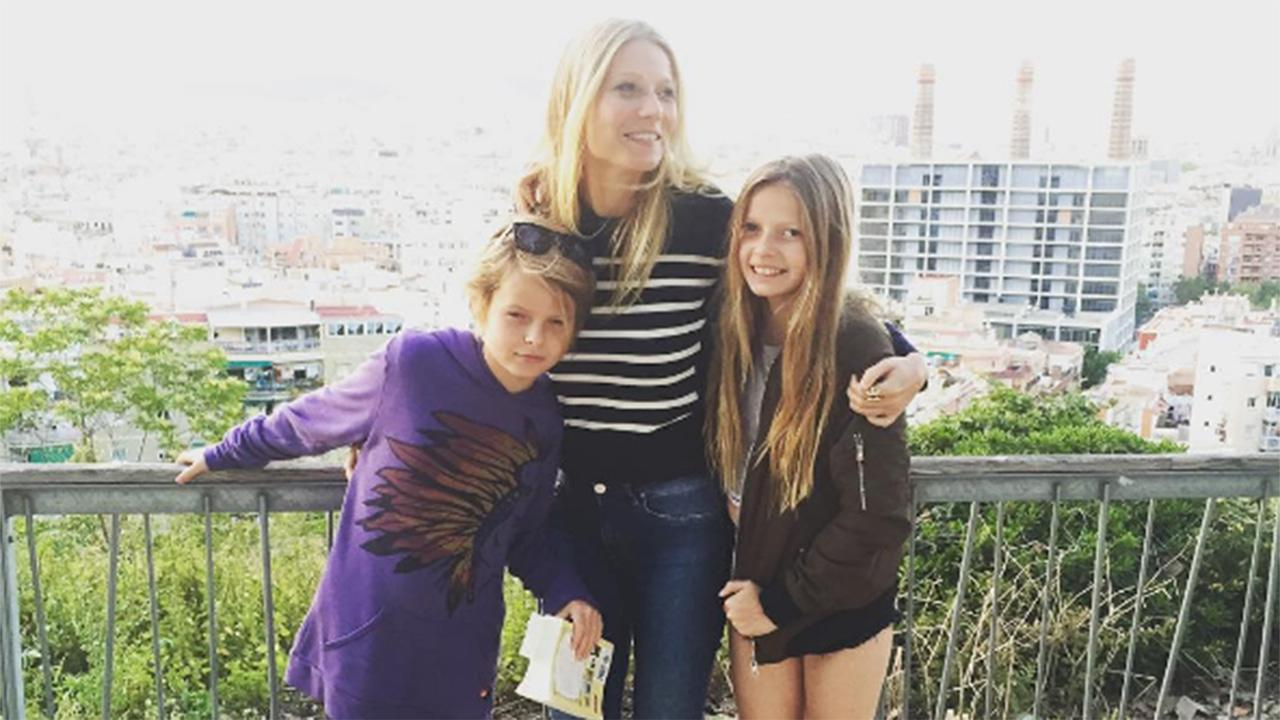 Gwyneth Paltrow Poses With Lookalike Kids Apple and Moses in Barcelona After Attending Ex Chris Martin's Show