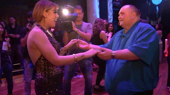 'Dancing Man' busts a move at special dance party in Hollywood