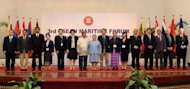 Association of Southeast Asian Nations (ASEAN) officials open of the 3rd ASEAN Maritime Forum in Manila on October 3. The Philippines has proposed an information-sharing system for Southeast Asia to help protect its waters from security challenges such as piracy, illegal fishing and drug trafficking