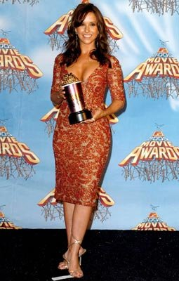 """Best Onscreen Team"" winner Lacey Chabert MTV Movie Awards 2005 - Backstage Los Angeles, CA - 6/4/05"