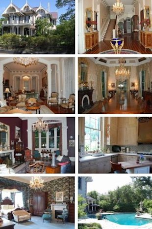 A peek inside Sandra's New Orleans Mansion, courtesy of The Real Estalker.