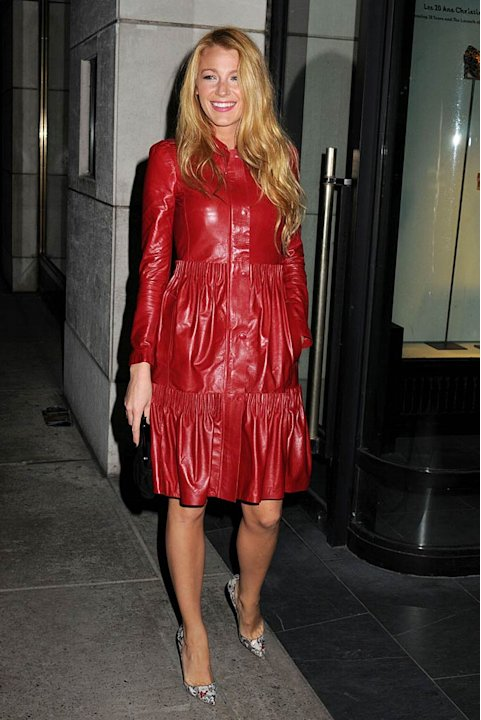 Blake Lively Chrstian Louboutin Cocktail Party
