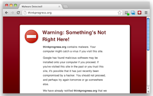 ThinkProgress Gets Hit by Google's Red Screen of Doom