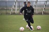 Maxim Molokoedov takes part in a training session with Chilean second division football team, Santiago Morning. The Russian, who is serving time at the Santiago prison for drug trafficking, was discovered by a recruiter for Chile's national team, Claudio Borghi, during a jailhouse match in 2011