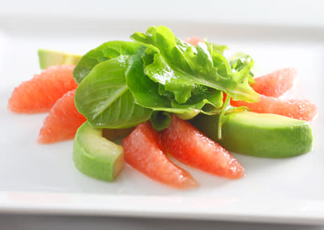 Greens with Grapefruit and Avocado