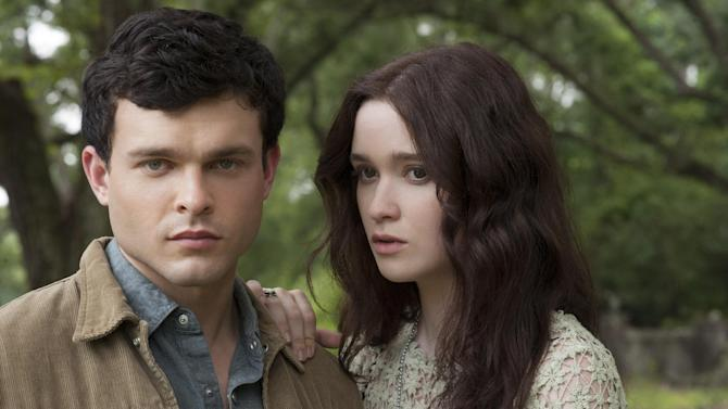 "This film image released by Warner Bros. Pictures shows Alden Ehrenreich, left, and Alice Englert in a scene from ""Beautiful Creatures."" (AP Photo/Warner Bros. Pictures, John Bramley)."