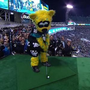 Golfing onto the field in Jacksonville