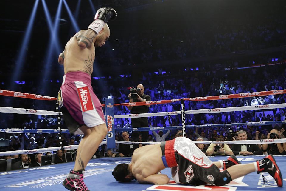 Cotto stops Martinez in middleweight title fight