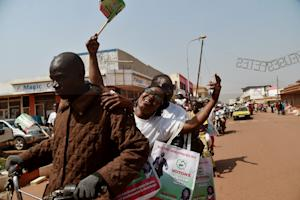 Supporters of Central African Republic presidential …