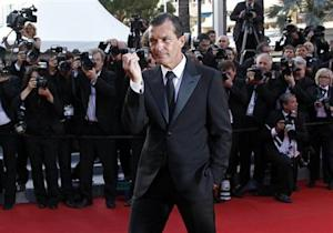 Actor and director Banderas arrives on the red carpet for the screening of the film The Paperboy at the 65th Cannes Film Festival