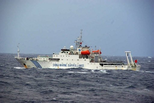 &lt;p&gt;This file photo, taken by Japan Coast Guard, shows a Chinese maritime surveillance ship cruising near a group of disputed islands known as the Senkaku in Japan and the Diaoyu in China, in the East China Sea, on November 27, 2012. Three Chinese state-owned ships entered the waters again on Friday, in the first intrusion since a new government was elected in Tokyo.&lt;/p&gt;
