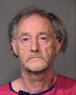A photo released by the Maricopa County Sheriff's Office shows Eugene Maraventano, 63, who is charged with killing his wife and adult son. Maraventano, acknowledged fatally stabbing both, saying he feared he may have contracted the AIDS virus from prostitutes years earlier and given it to his wife, police said. (AP Photo/Maricopa County Sheriff's Office)