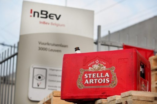 <p>A case of Stella Artois beer bottles sits in front of the headquarters of beer producer AB InBev, in Leuven. Global beer giant AB Inbev will give further information to US justice officials over its planned purchase of Mexican brewer Grupo Modelo, which makes Corona, according to a statement received Saturday.</p>