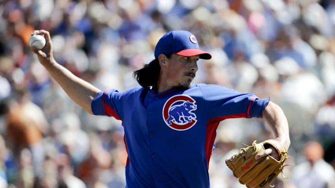 Cain is perfect for 5 innings but Cubs top Giants