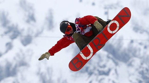 Switzlerand's Christian Haller performs a jump during the men's snowboard halfpipe qualification round at the 2014 Sochi Winter Olympic Games in Rosa Khutor February 11, 2014 (Reuters)
