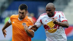 "Houston Dynamo see opening in absence of New York Red Bulls' ""rock"" Jámison Olave"