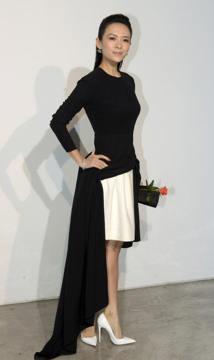 Chinese actress Zhang Ziyi arrives at a fashion show by Belgian designer Raf Simons for French fashion house Dior in Monaco