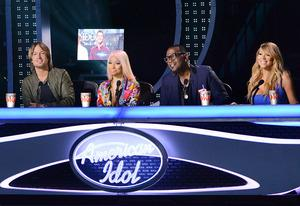 Keith Urban, Niki Minaj, Randy Jackson and Mariah Carey | Photo Credits: Michael Becker / FOX
