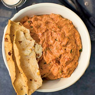 Roasted Garlic-and-Sundried Tomato Cheese Spread (Ossabaw Dip)