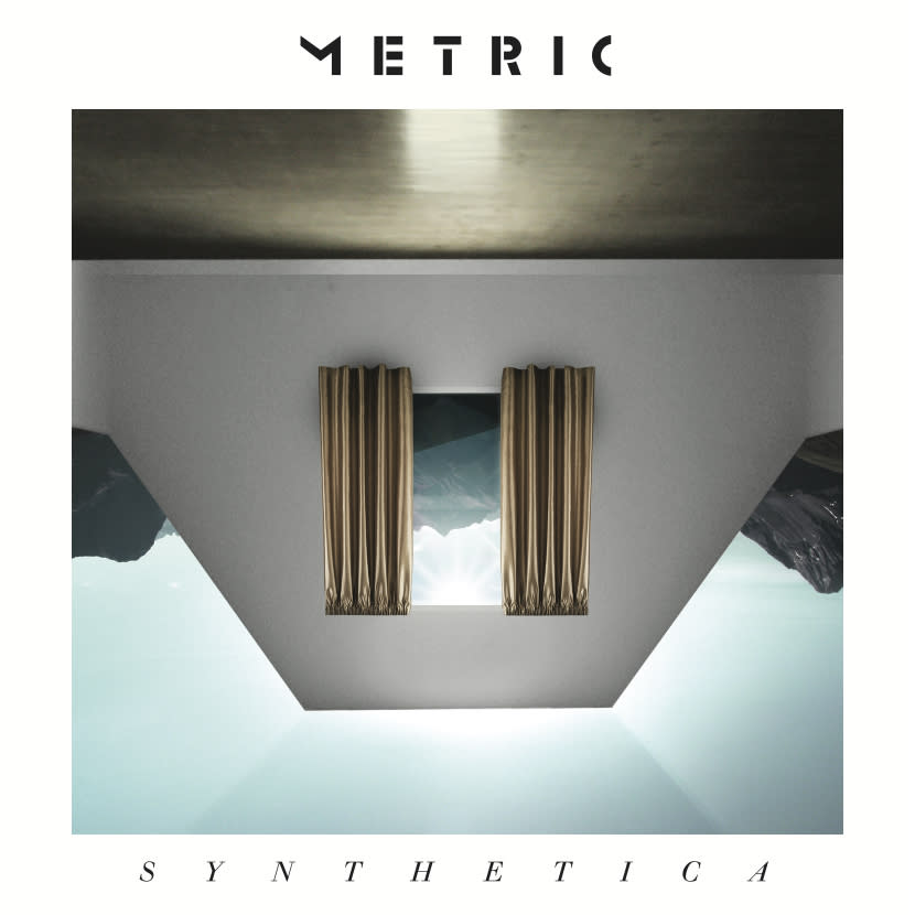 "This CD cover image released by Metric Music International shows the latest release by Metric, ""Synthetica."" (AP Photo/Metric Music International)"