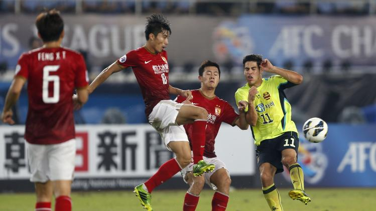 during their final match of the AFC Champions League in Guangzhou