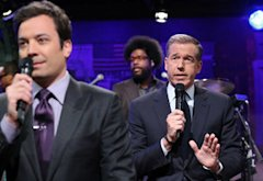 Jimmy Fallon, Brian Williams | Photo Credits: Lloyd Bishop/NBC