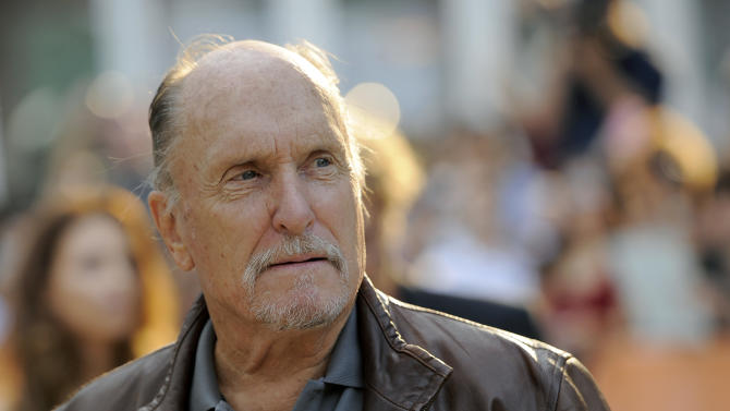 """FILE - Robert Duvall, a cast member in the film """"Jayne Mansfield's Car,"""" arrives at the premiere of the film at the 2012 Toronto Film Festival, Thursday, Sept. 13, 2012, in Toronto. Duvall is one of the spectators at the racketeering trial of reputed gangster James """"Whitey"""" Bulger. Duvall sat in the back of the courtroom Friday, June 21, 2013 at Bulger's trial in Boston. (Photo by Chris Pizzello/Invision/AP, File)"""