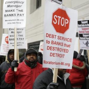 Union Workers Protest Detroit Bankruptcy Ruling