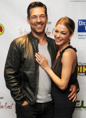 LeAnn Rimes and Eddie Cibrian pose after an acoustic presentation to assist victims of the recent tornadoes in Alabama at the Ponte Vedra Concert Hall in  Ponte Vedra Beach, Florida on June 5, 2011 -- Getty Images