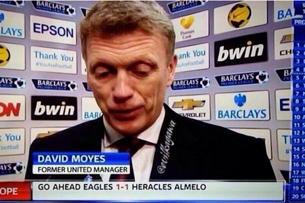 Sky Sports News refers to David Moyes as 'former United manager'