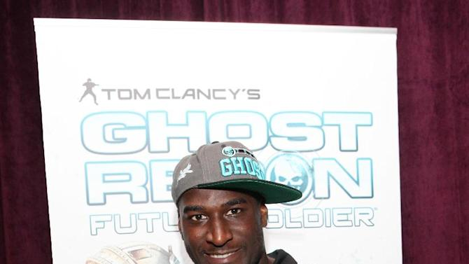 NFL Rookie Justin Blackmon attends a preview of Ubisoft's Ghost Recon: Future Soldier in Los Angeles, Thursday, May 17, 2012.  (Casey Rodgers / AP Images for Ubisoft)