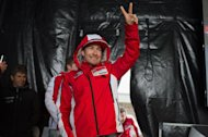LE MANS, FRANCE - MAY 17:  Nicky Hayden of USA and Ducati Marlboro Team greets the fans during the event &quot;Riders and Public Interviews&quot; during the MotoGp Of France - Free Practice on May 17, 2013 in Le Mans, France.  (Photo by Mirco Lazzari gp/Getty Images)