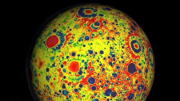 Moon Surprisingly Battered, New Lunar Gravity Map Reveals
