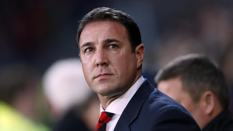 Cardiff City's then manager Malky Mackay pictured before his side's English Premier League game against Manchester United in Cardiff, south Wales on November 24, 2013