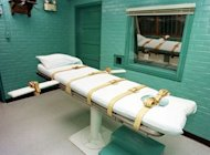 "File photo of the ""death chamber"" at the Texas Department of Criminal Justice Huntsville Unit in Huntsville, Texas. A report released Tuesday has found that the wrong man was executed in Texas in 1989 for a crime committed by another person with the same first name who looked very similar. (AFP Photo/Paul Buck)"