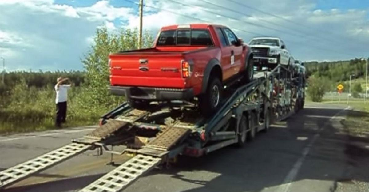 Guy Tries To Unload New Truck Then This Happens...