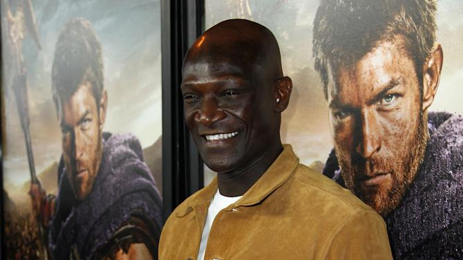 "Peter Mensah arrives at the premiere of ""Spartacus: War of the Damned"" on Tuesday, Jan. 22, 2013 in Los Angeles. ""Spartacus: War of the Damned"" premieres Friday, Jan. 25 at 9PM on STARZ. (Photo by Matt Sayles/Invision for STARZ/AP Images)"