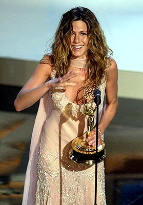 Jennifer Aniston Best Actress in a Comedy Friends Emmy Awards - 9/22/2002