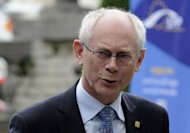 European Council President Herman Van Rompuy announced European leaders clinched a deal on a new &quot;growth pact&quot; of measures worth some 120 billion euros to breathe life into floundering economies