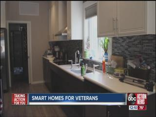Wounded veterans receiving new smart homes