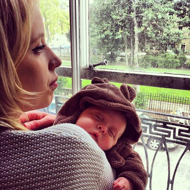 Celebrity photos: Ever since her son was born, Peaches Geldof has kept us cooing over him with a stream of cute Twitpics of the bubba. This is the latest sweet snap. Copyright [Peaches Geldof]