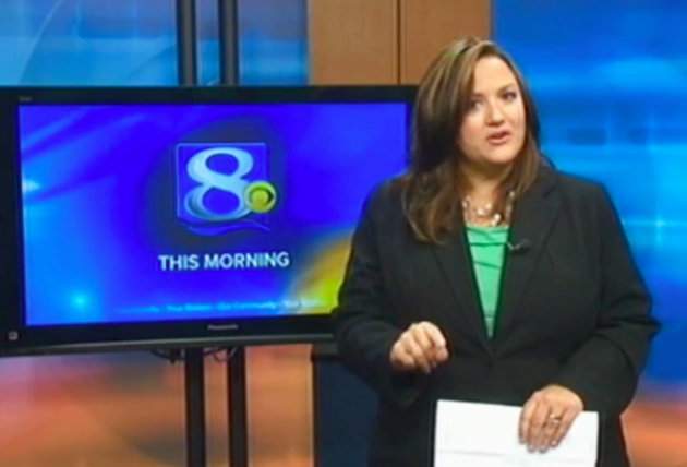 This frame grab provided by WKBT-TV in La Crosse, Wis., shows television anchorwoman Jennifer Livingston Tuesday, Oct. 2, 2012, during her broadcast responding to a viewer who wrote her an email criticizing her weight. Livingston says she thought nothing of the email. But she&#39;s angry that some children may not know to do the same when they&#39;re criticized, or worse, by bullies. (AP Photo/Courtesy WKBT-TV)