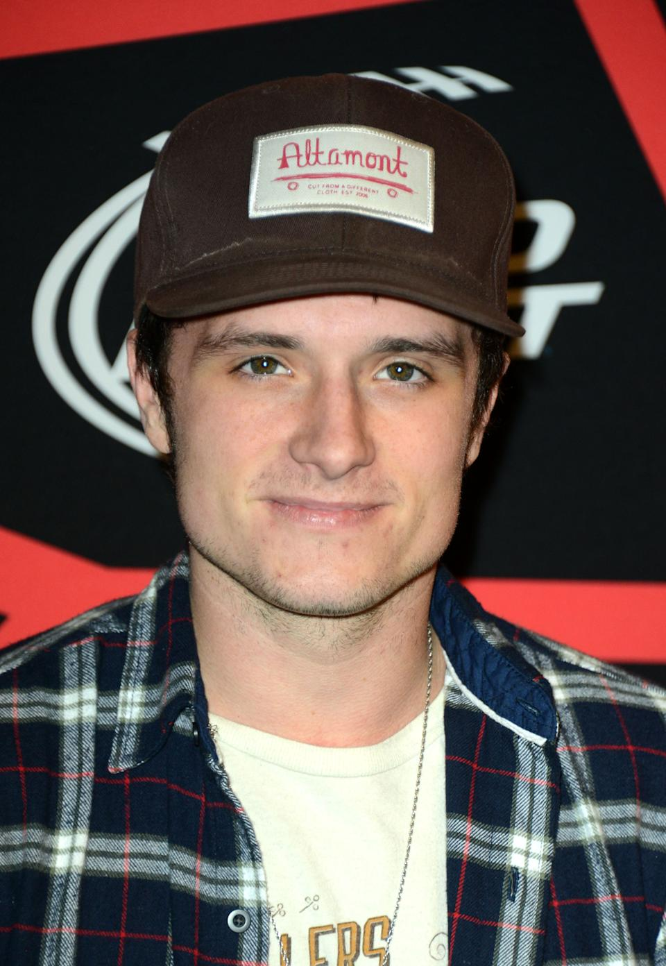 "Actor Josh Hutcherson arrives at ESPN The Magazine's ""Next"" Event on Friday, Feb. 1, 2013 in New Orleans. (Photo by Jordan Strauss/Invision/AP)"