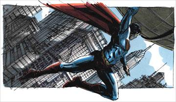 Storyboards from the falling globe sequence Warner Bros. Pictures' Superman Returns