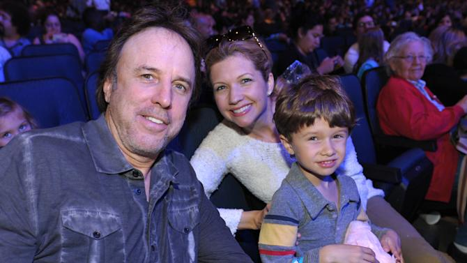 IMAGE DISTRIBUTED FOR GABBA CA DABRA - From left, Kevin Nealon, Susan Yeagley, and their son Gable Nealon attend Yo Gabba Gabba! Live!: Get The Sillies Out! 50+ city tour kick-off performance on Thanksgiving weekend at Nokia Theatre L.A. Live on Friday Nov. 23, 2012 in Los Angeles. (Photo by John Shearer/Invision for GabbaCaDabra, LLC./AP Images)